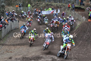 MX2 R1 - Mel Pocock leads into turn 2 in race one