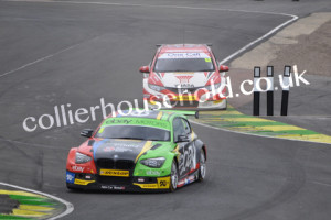 Race 1 saw Turkington lead Shedden before pulling away