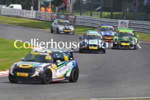 Race 1 was decided on final lap when Russell dived Newstead for 2nd