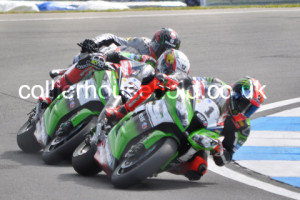Race 2 lead changed when Sykes snatched the lead into the corner