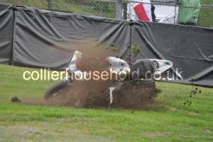 Race 2 saw a huge crash at Lodge for Ian Hutchinson