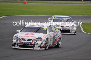Race 2 top ten fought between the RML Nissan Primeras